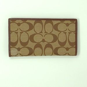 Coach Leather Checkbook Wallet Cover